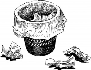 Waste basket sketch