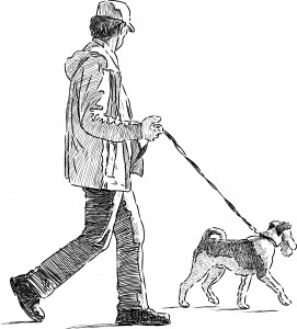 Dog Walker Sketch