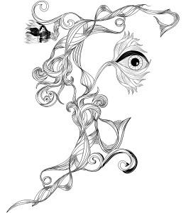 Surreal Floral Sketch