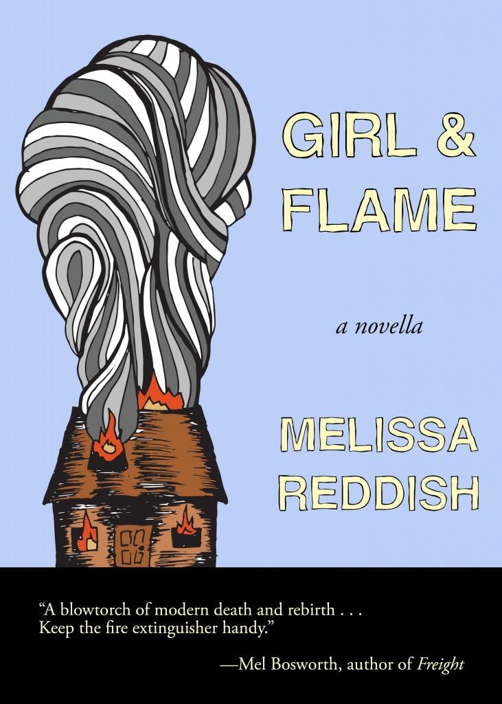 Girl and Flame mock up