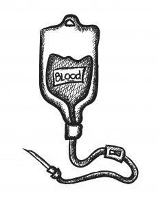 doodle blood bag