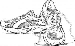 Sneakers sketch