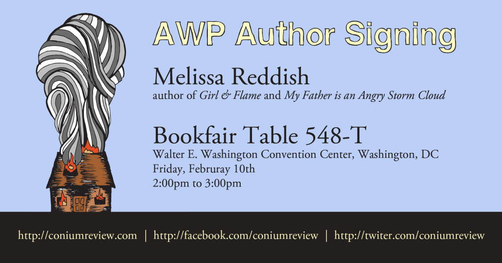 Girl and Flame book signing banner